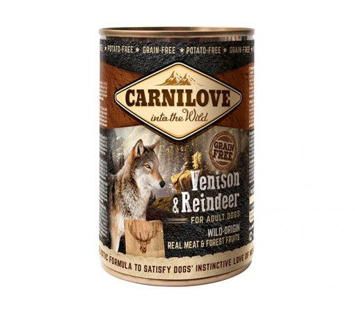 CARNILOVE ADULTI CERVO & RENNA 400 g.