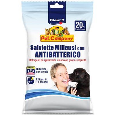 SALVIETTE MILLEUSI CON ANTIBATTERICO VITAKRAFT 20 pz