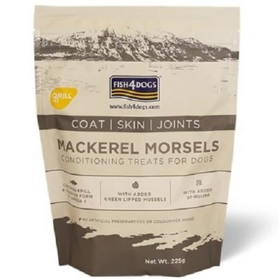 FISH4DOGS MACKEREL MORSEL COAT SKIN JOINT 225 g